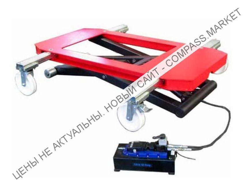 Подъемник ножничный подкатной, г/п 3000 кг, Werther-OMA (Италия)